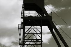 castillete de mina de carbón