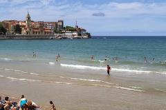 Playa en Gijón San Lorenzo