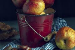 Bodegón de manzanas