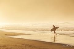 Surfero en la playa