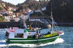 Barco entrando en puerto
