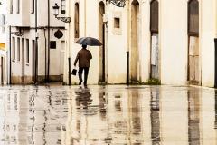 Avilés con lluvia