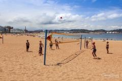 Playa del poniente en Gijón